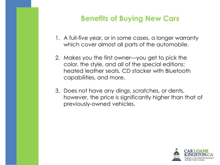Benefits of Buying New Cars