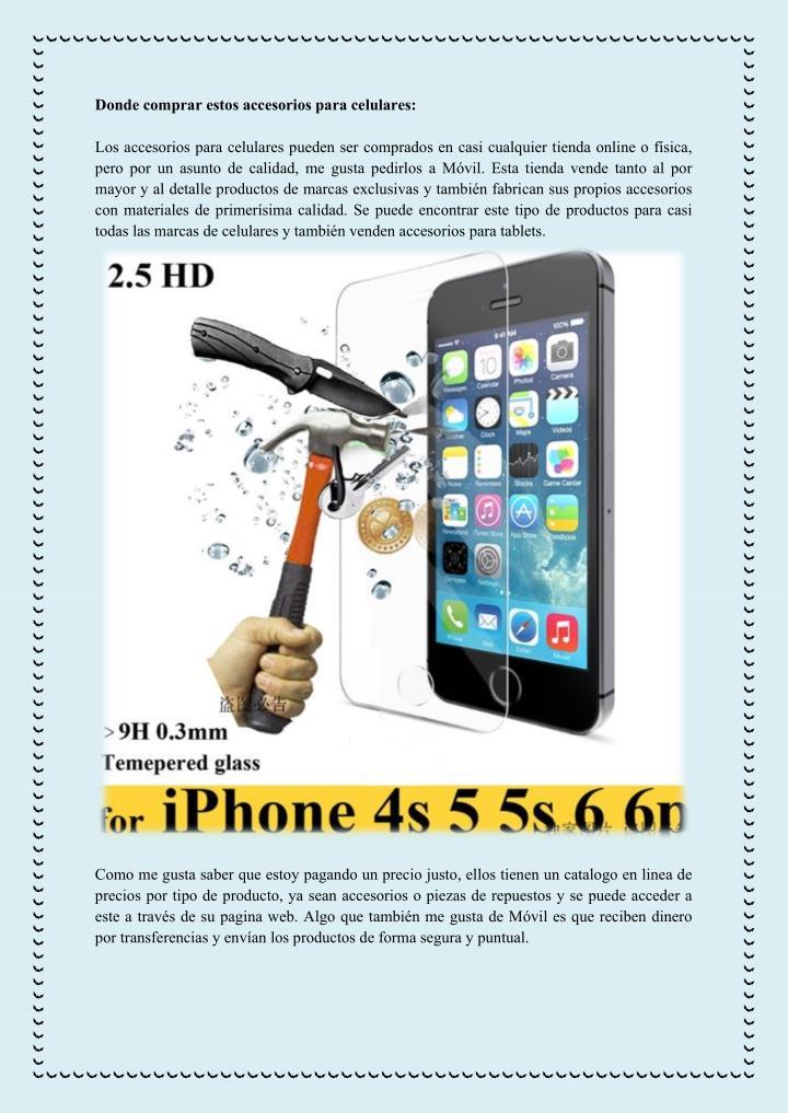 Donde comprar estos accesorios para celulares: