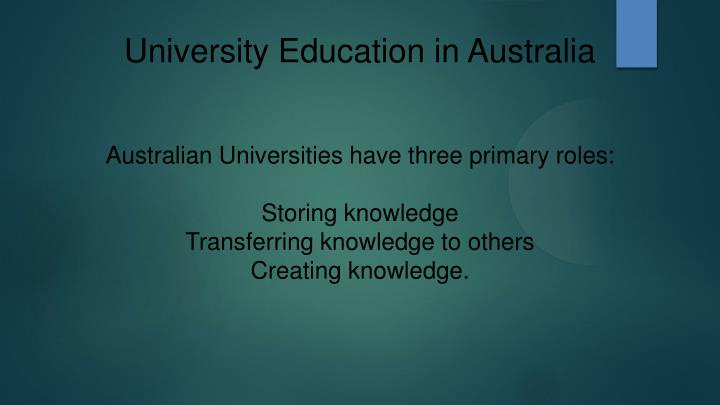 University Education in Australia
