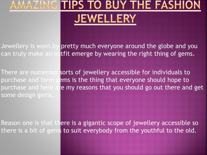 Amazing tips to buy the fashion jewellery