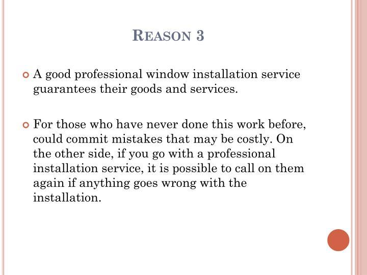 Reason 3