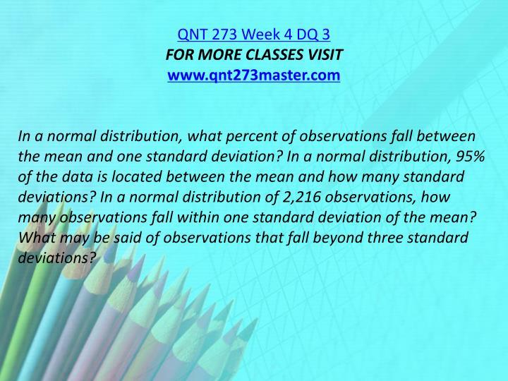 QNT 273 Week 4 DQ 3