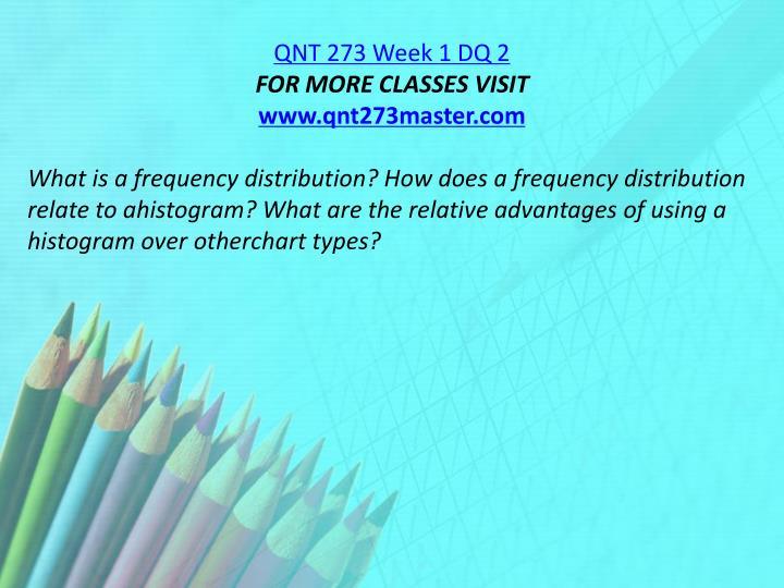 QNT 273 Week 1 DQ 2