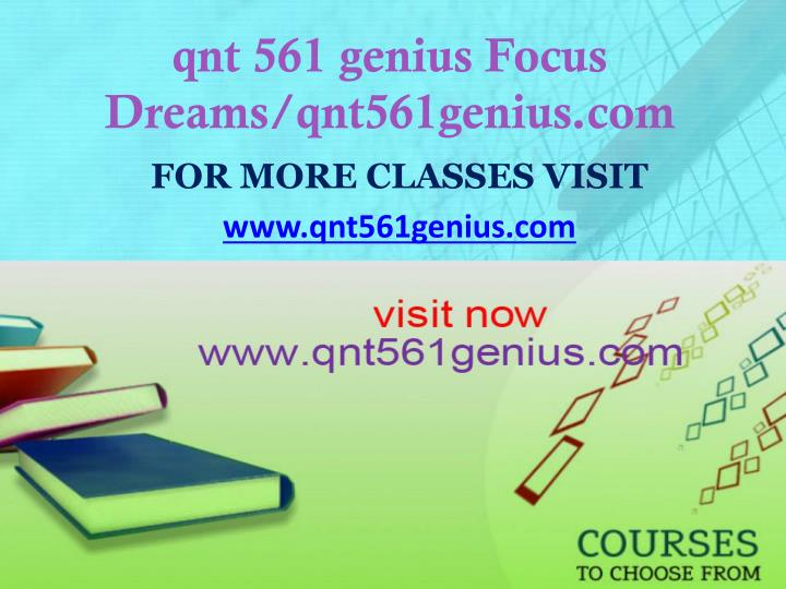 Qnt 561 genius focus dreams qnt561genius com