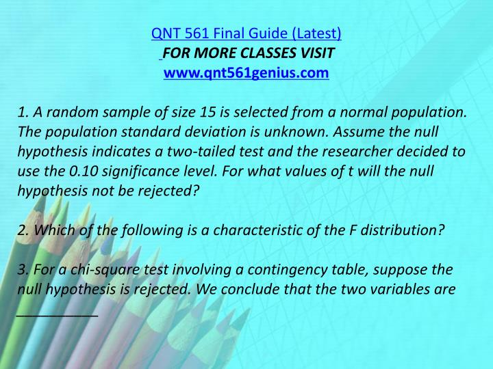 QNT 561 Final Guide (Latest)
