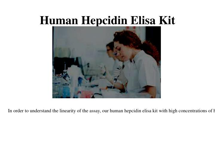 Human Hepcidin Elisa Kit