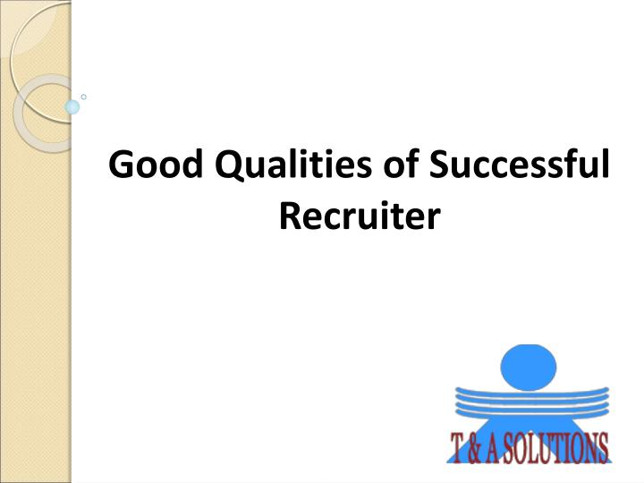 Good Qualities of Successful
