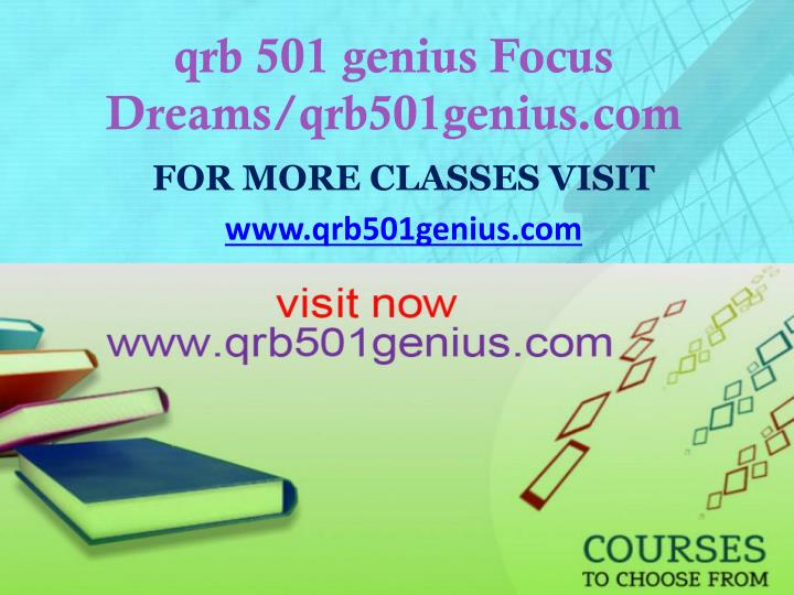 Qrb 501 genius focus dreams qrb501genius com