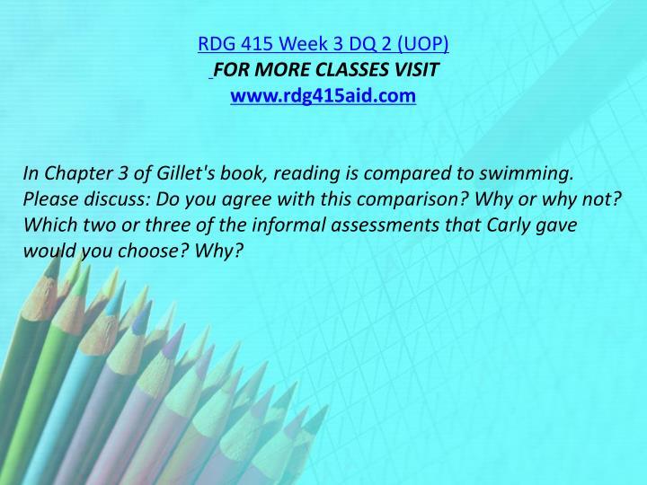 RDG 415 Week 3 DQ 2 (UOP)