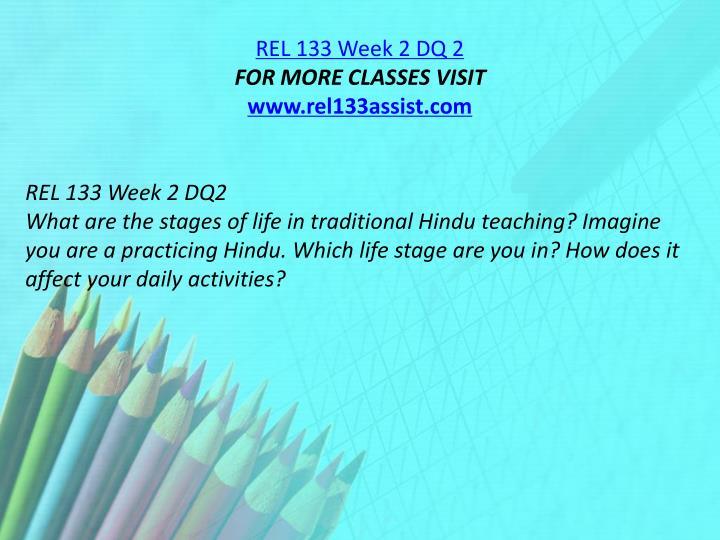 REL 133 Week 2 DQ 2