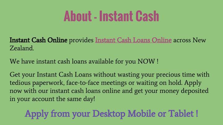 About - Instant Cash