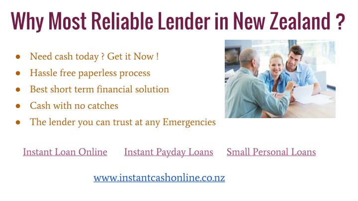 Why Most Reliable Lender in New Zealand ?