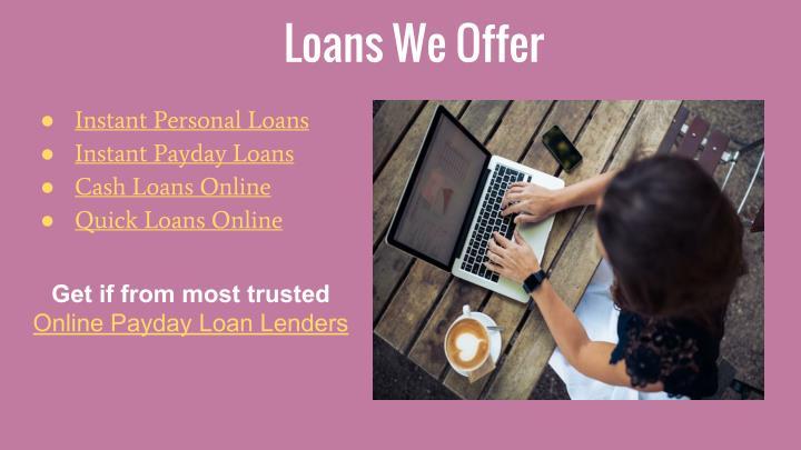 Loans We Offer