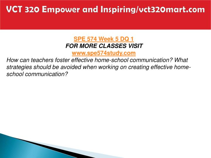 VCT 320 Empower and Inspiring/vct320mart.com