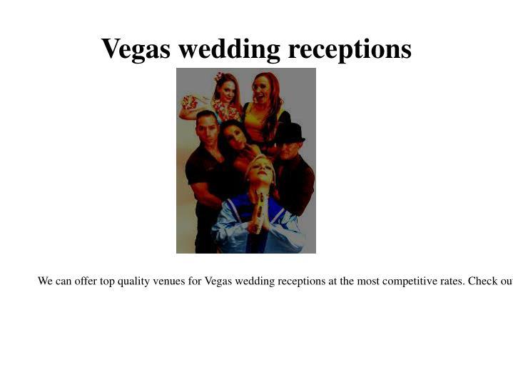 Vegas wedding receptions