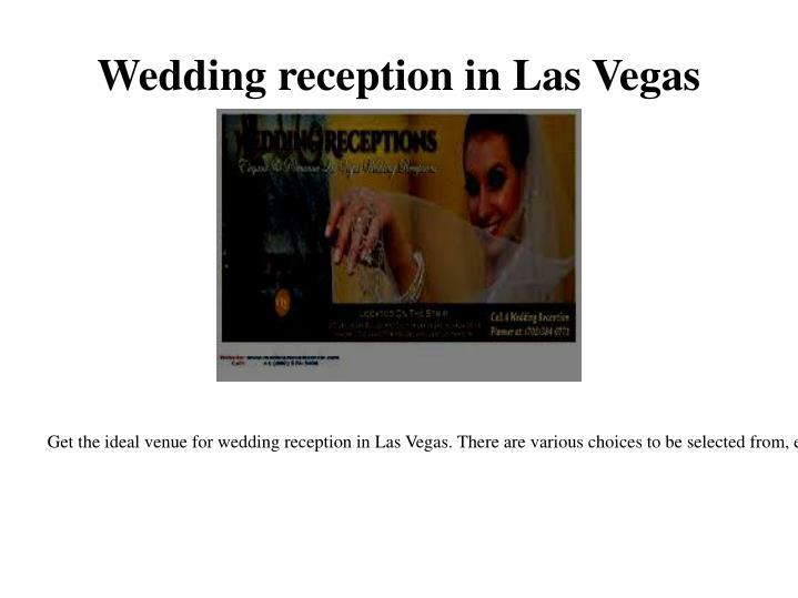 Wedding reception in Las Vegas
