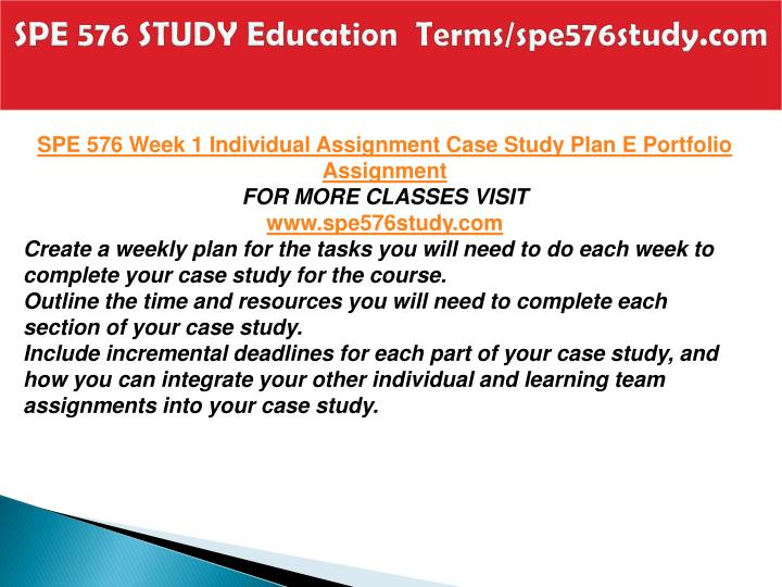 Spe 576 study education terms spe576study com2
