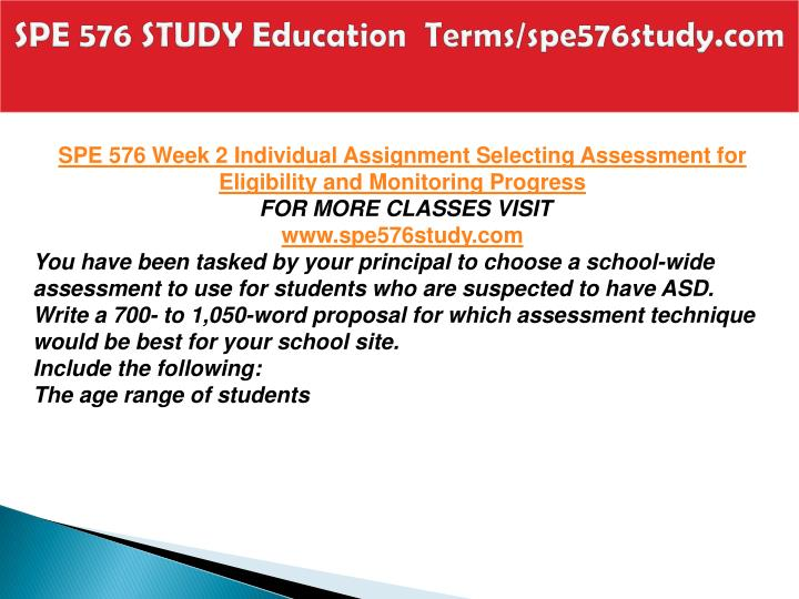 SPE 576 STUDY Education  Terms/spe576study.com