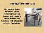 dining furniture alfa