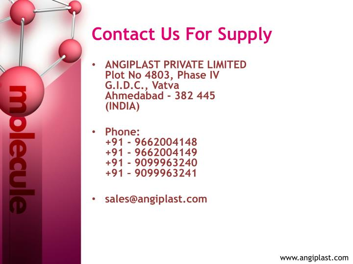 Contact Us For Supply