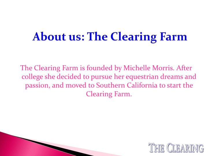 About us: The Clearing Farm