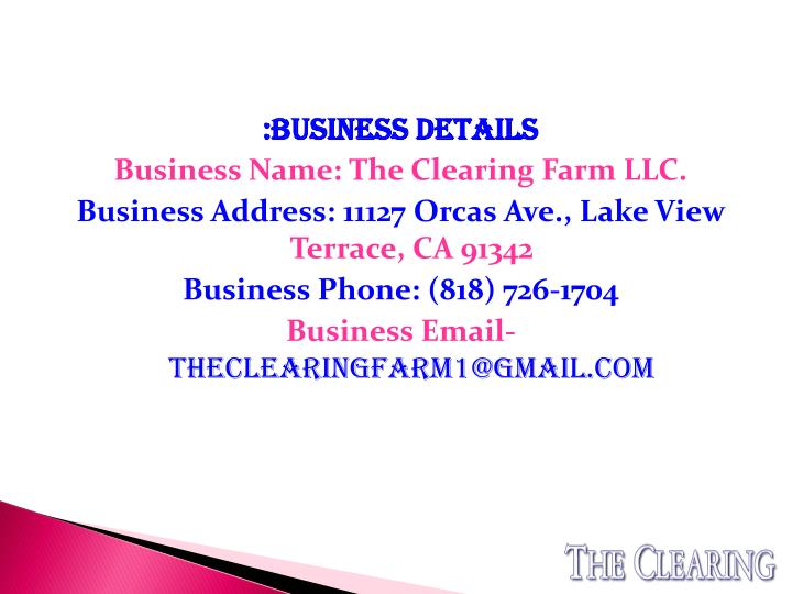 :Business Details