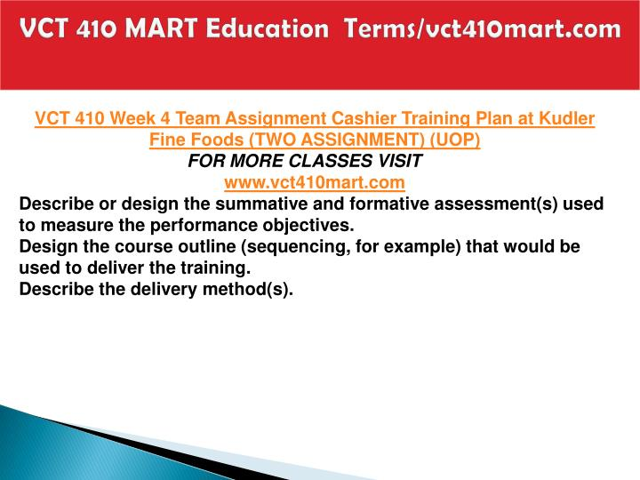 VCT 410 MART Education  Terms/vct410mart.com