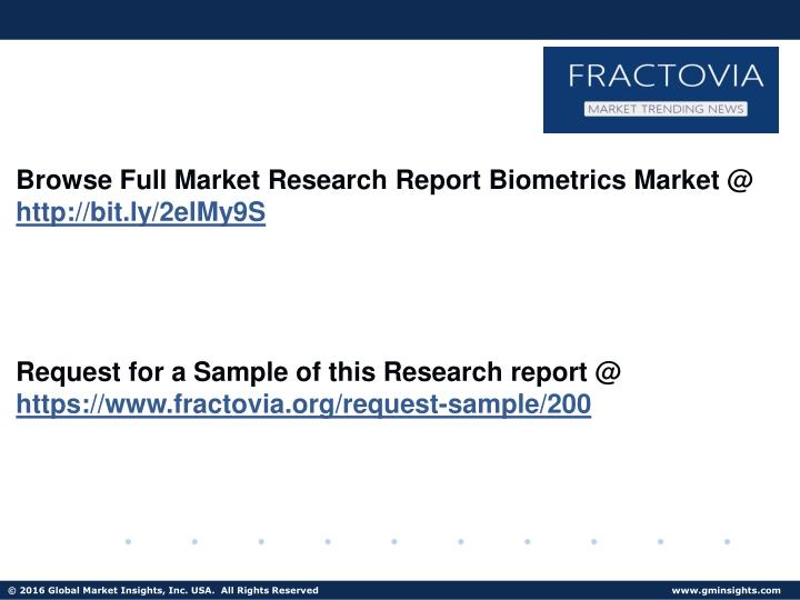 Browse Full Market Research Report Biometrics Market @