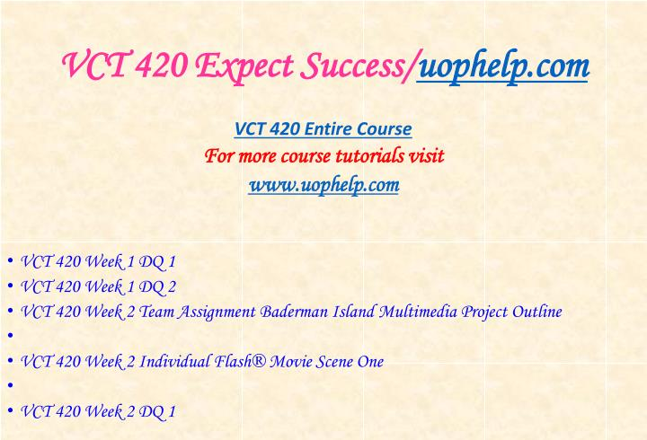 Vct 420 expect success uophelp com1