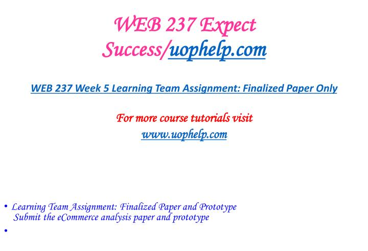 WEB 237 Expect Success/