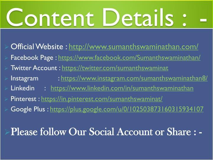 Content Details :  -