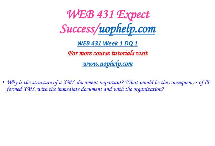 Web 431 expect success uophelp com1