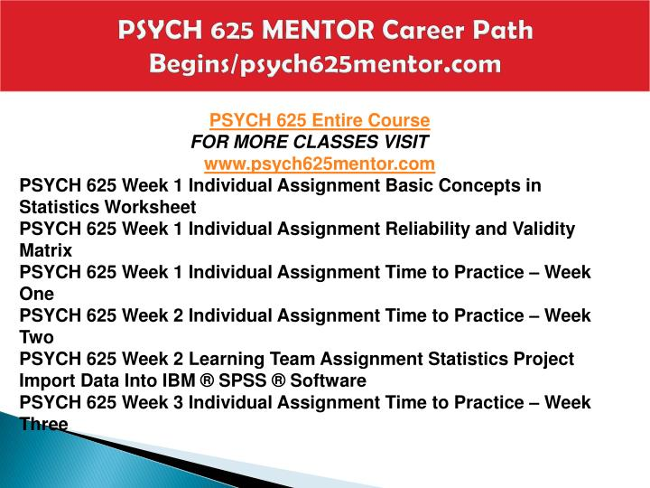 Psych 625 mentor career path begins psych625mentor com1