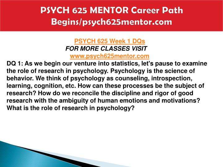 Psych 625 mentor career path begins psych625mentor com2