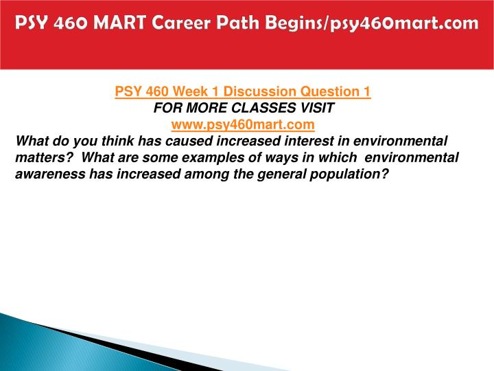 Psy 460 mart career path begins psy460mart com2
