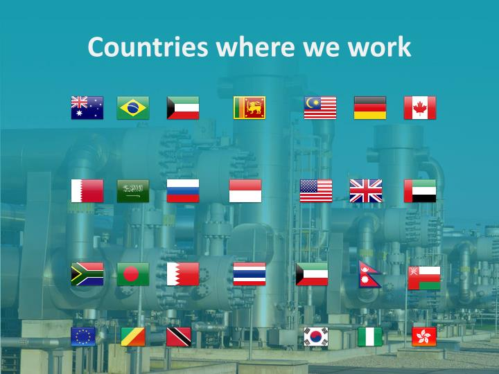 Countries where we work