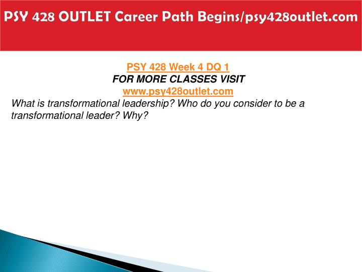 PSY 428 OUTLET Career Path Begins/psy428outlet.com
