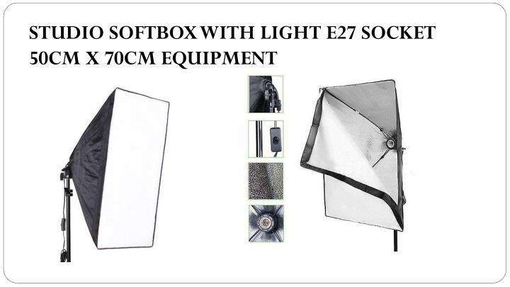 STUDIO SOFTBOX WITH LIGHT E27 SOCKET 50CM X 70CM EQUIPMENT