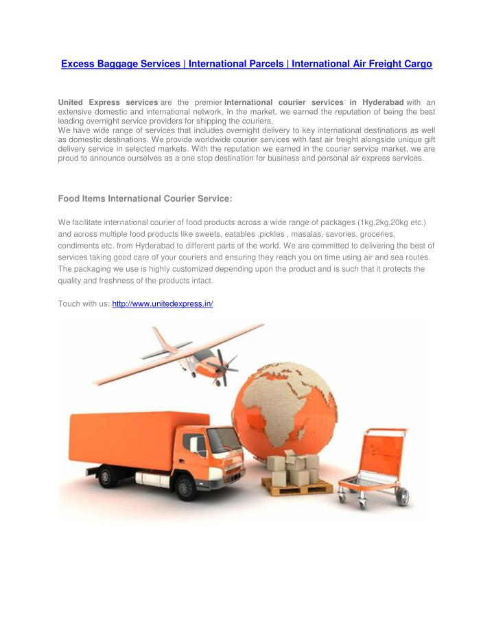 Excess Baggage Services | International Parcels | International Air Freight Cargo