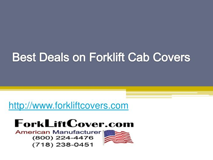 Best deals on forklift cab covers