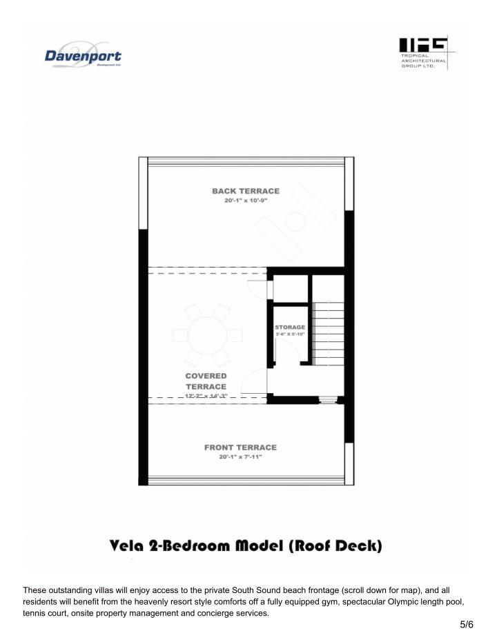These outstanding villas will enjoy access to the private South Sound beach frontage (scroll down for map), and all