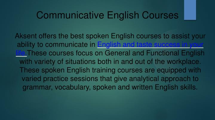 Communicative English Courses