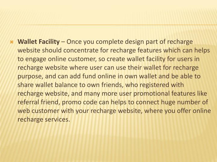 Wallet Facility