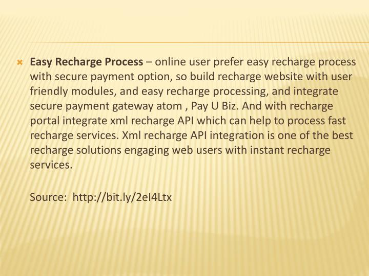 Easy Recharge Process