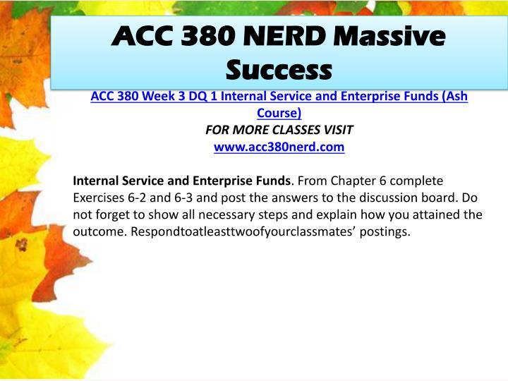 ACC 380 NERD Massive Success