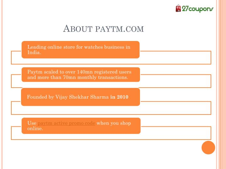 About paytm.com