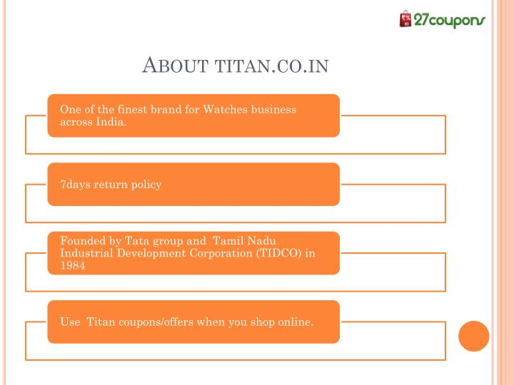 About titan.co.in
