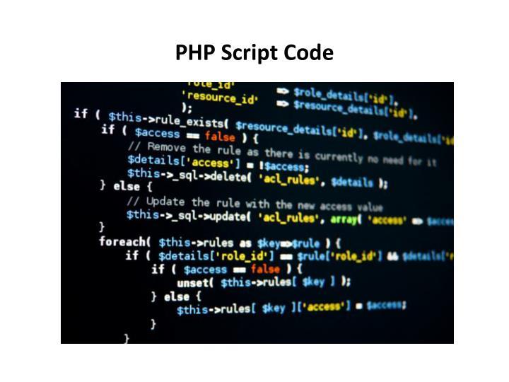 PHP Script Code