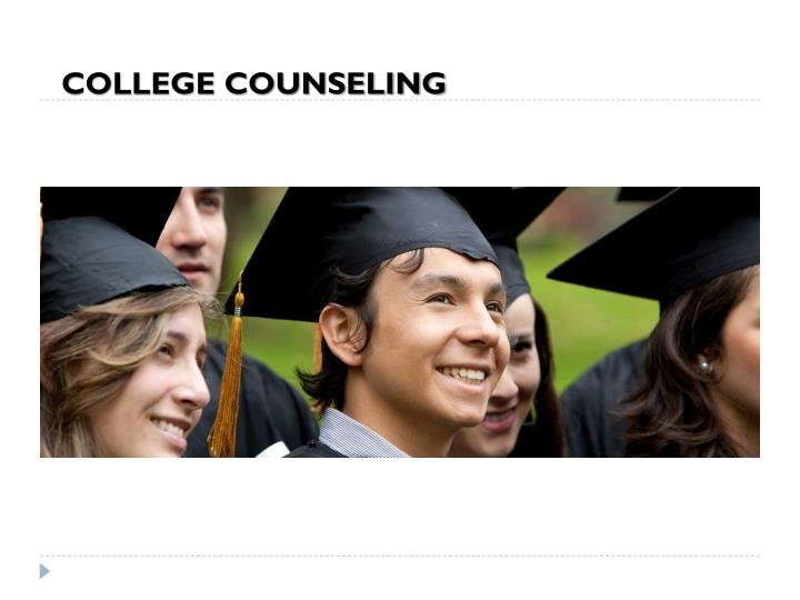 COLLEGE COUNSELING
