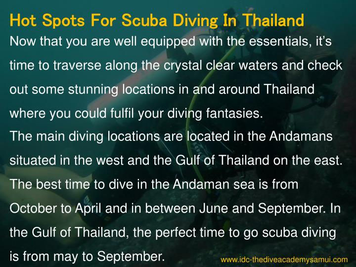 Hot Spots For Scuba Diving In Thailand